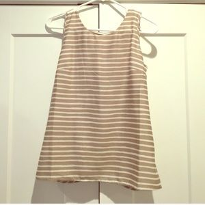 J. Crew open back blouse top